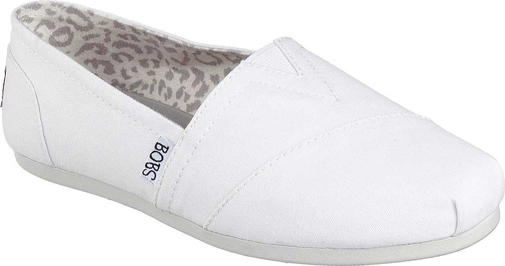 Women's Skechers BOBS Plush Peace and Love, White, large, image 1