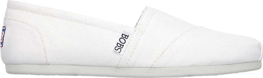 Women's Skechers BOBS Plush Peace and Love, White, large, image 2