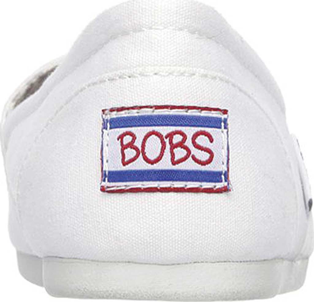 Women's Skechers BOBS Plush Peace and Love, White, large, image 4