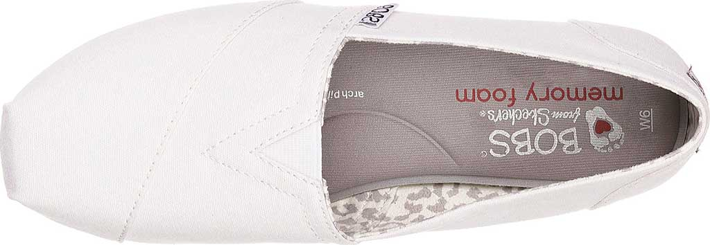 Women's Skechers BOBS Plush Peace and Love, White, large, image 5