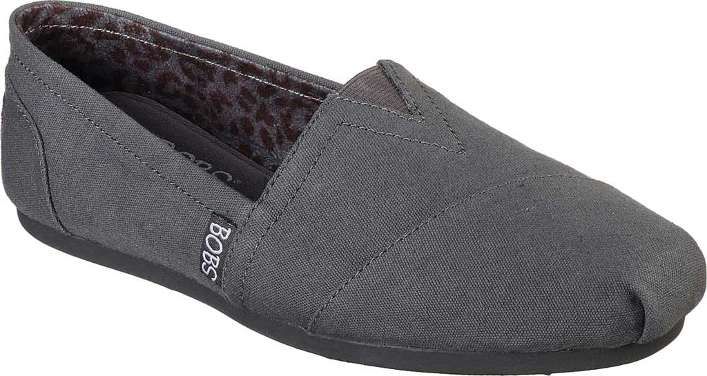 Women's Skechers BOBS Plush Peace and Love, Dark Gray, large, image 1