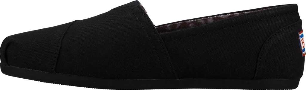 Women's Skechers BOBS Plush Peace and Love, Black, large, image 3