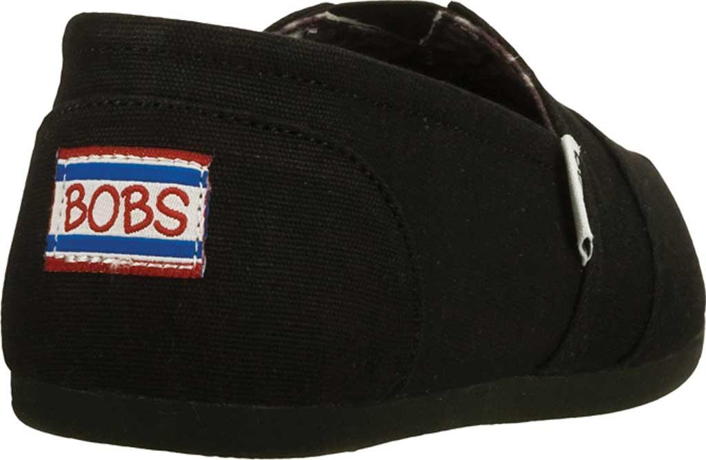 Women's Skechers BOBS Plush Peace and Love, Black, large, image 4