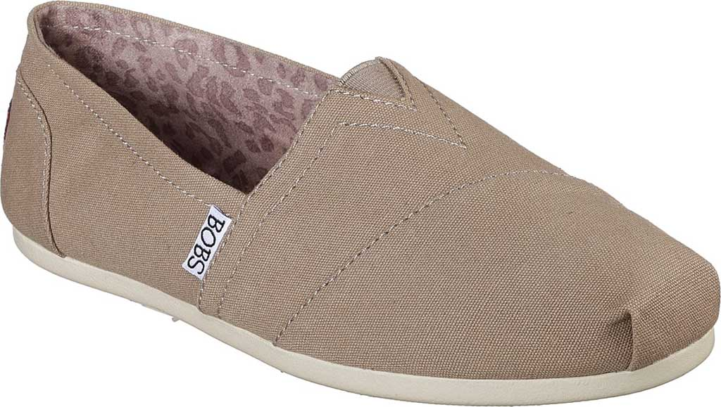 Women's Skechers BOBS Plush Peace and Love, Taupe, large, image 1