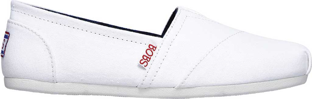 Women's Skechers BOBS Plush Peace and Love, White/Red/Navy, large, image 2
