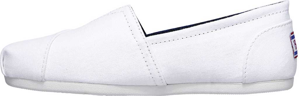 Women's Skechers BOBS Plush Peace and Love, White/Red/Navy, large, image 3