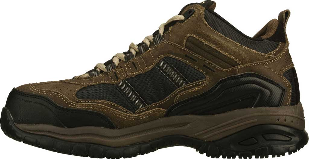 Men's Skechers Work Relaxed Fit Soft Stride Canopy Composite Toe, Brown/Black, large, image 3
