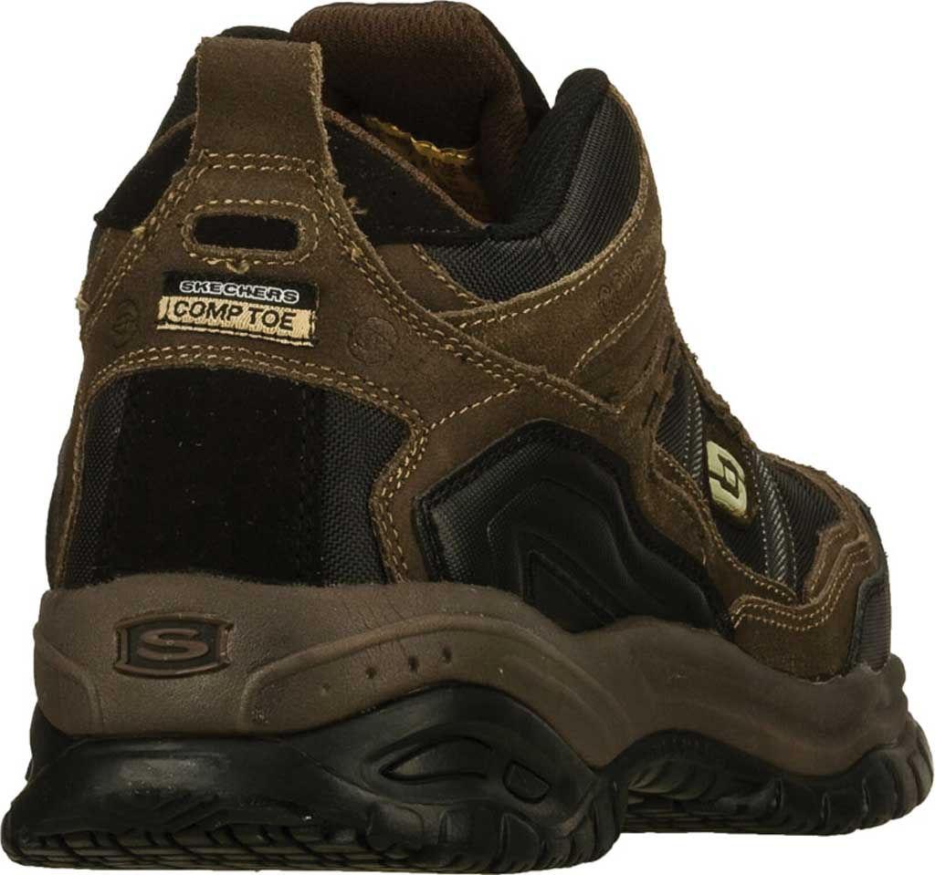 Men's Skechers Work Relaxed Fit Soft Stride Canopy Composite Toe, Brown/Black, large, image 4