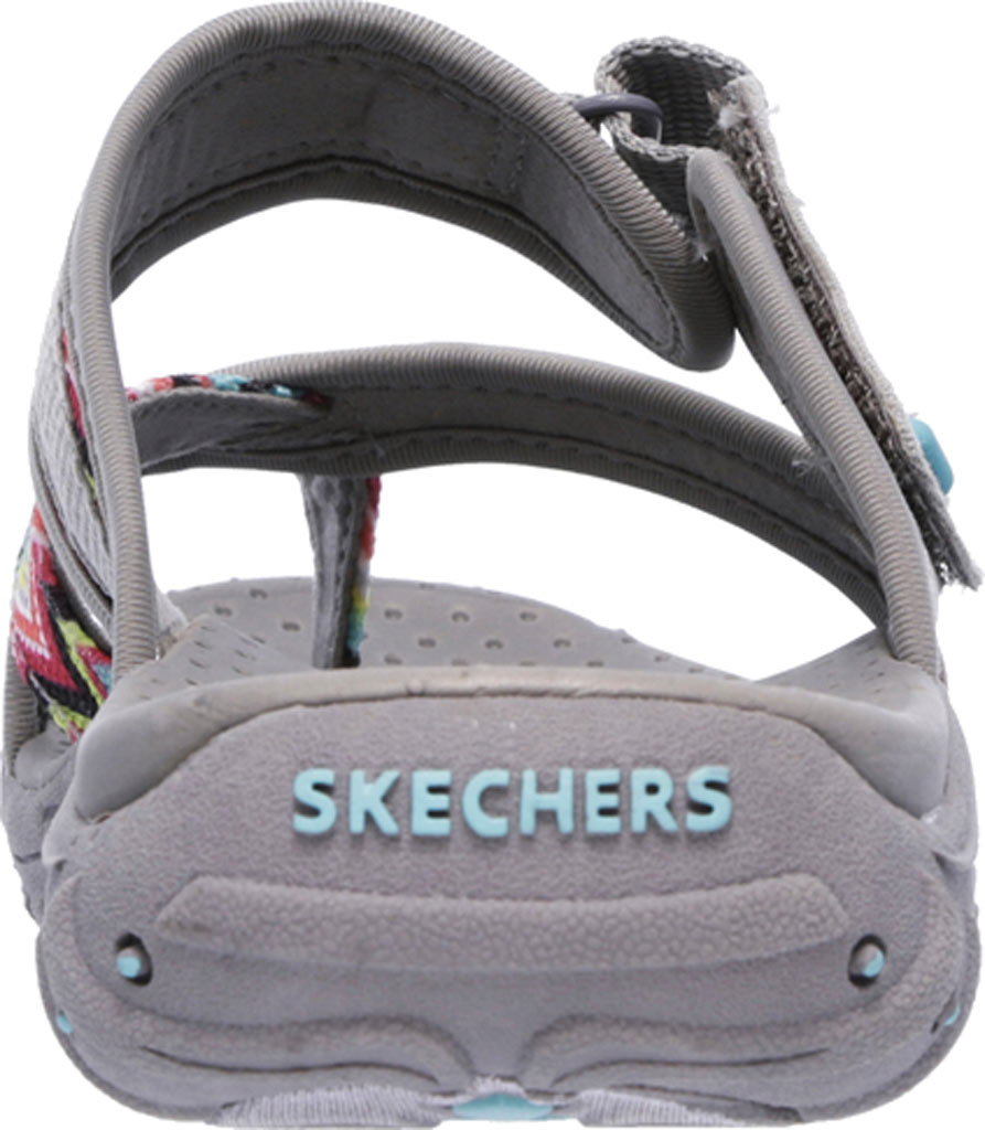 Women's Skechers Reggae Zig Swag Sandal, Gray, large, image 4