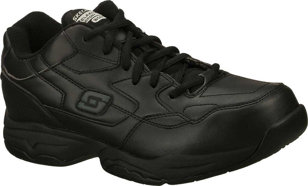 Men's Skechers Work Relaxed Fit Felton Altair Slip Resistant Shoe, Black, large, image 1