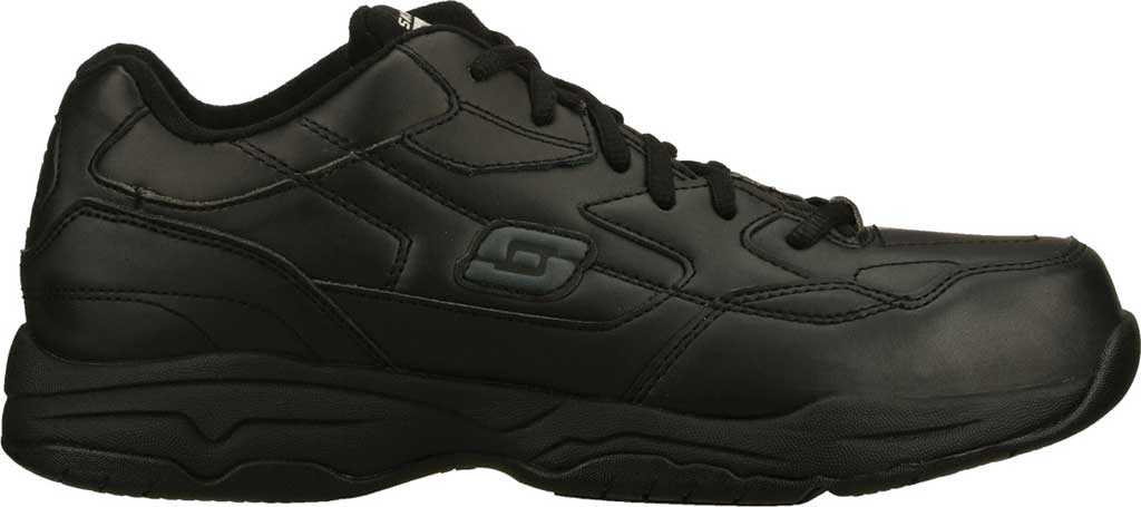 Men's Skechers Work Relaxed Fit Felton Altair Slip Resistant Shoe, Black, large, image 2