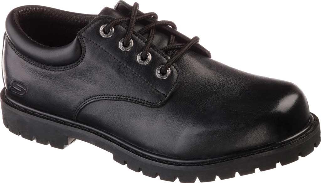 Men's Skechers Work Relaxed Fit Cottonwood Elks SR Shoe, Black, large, image 1