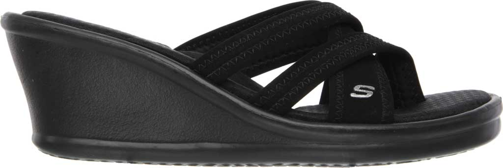 Women's Skechers Rumblers Young At Heart Sandal, Black, large, image 2