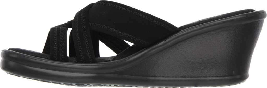 Women's Skechers Rumblers Young At Heart Sandal, Black, large, image 3
