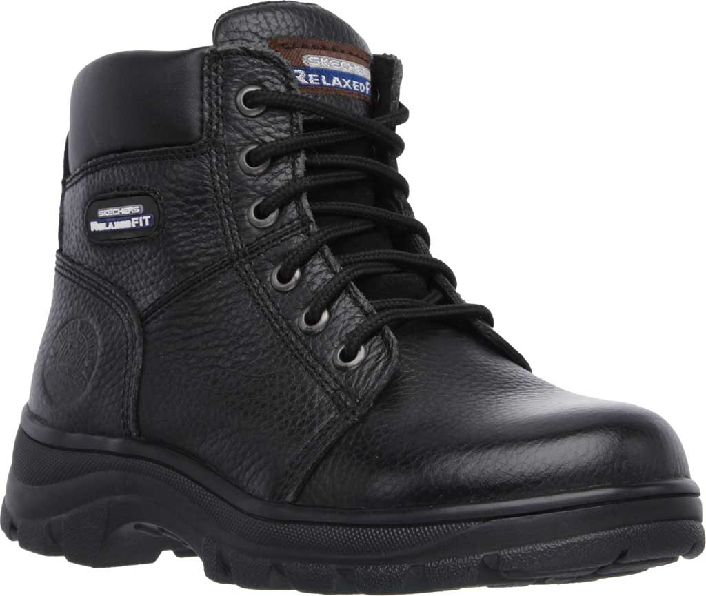 Women's Skechers Work Relaxed Fit Workshire Fitton, Black, large, image 1