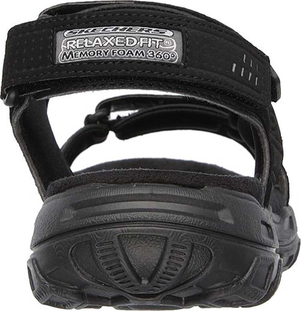 Men's Skechers Relaxed Fit Conner Louden Sport Sandal, Black, large, image 4