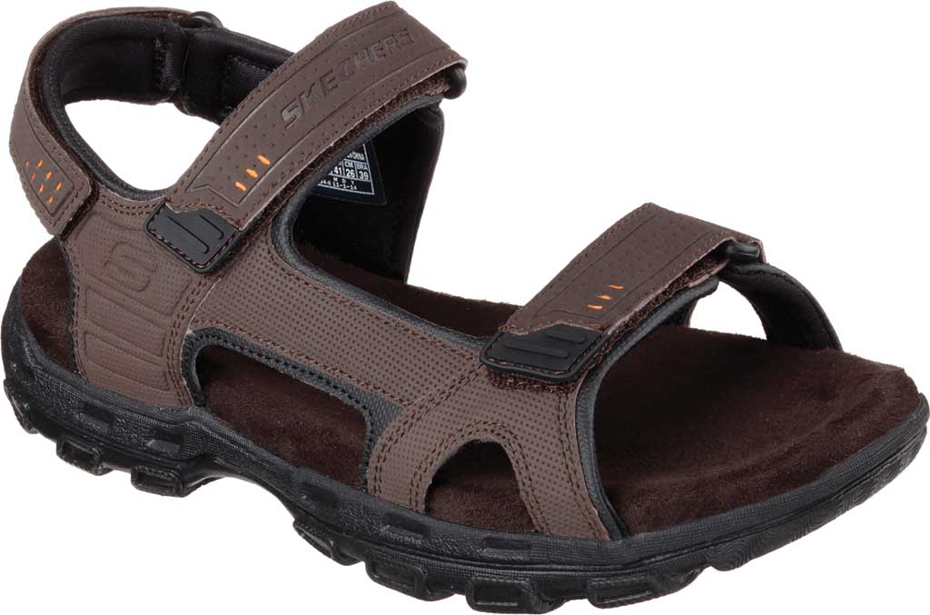 Men's Skechers Relaxed Fit Conner Louden Sport Sandal, Brown, large, image 1