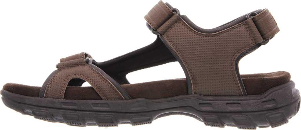Men's Skechers Relaxed Fit Conner Louden Sport Sandal, Brown, large, image 3