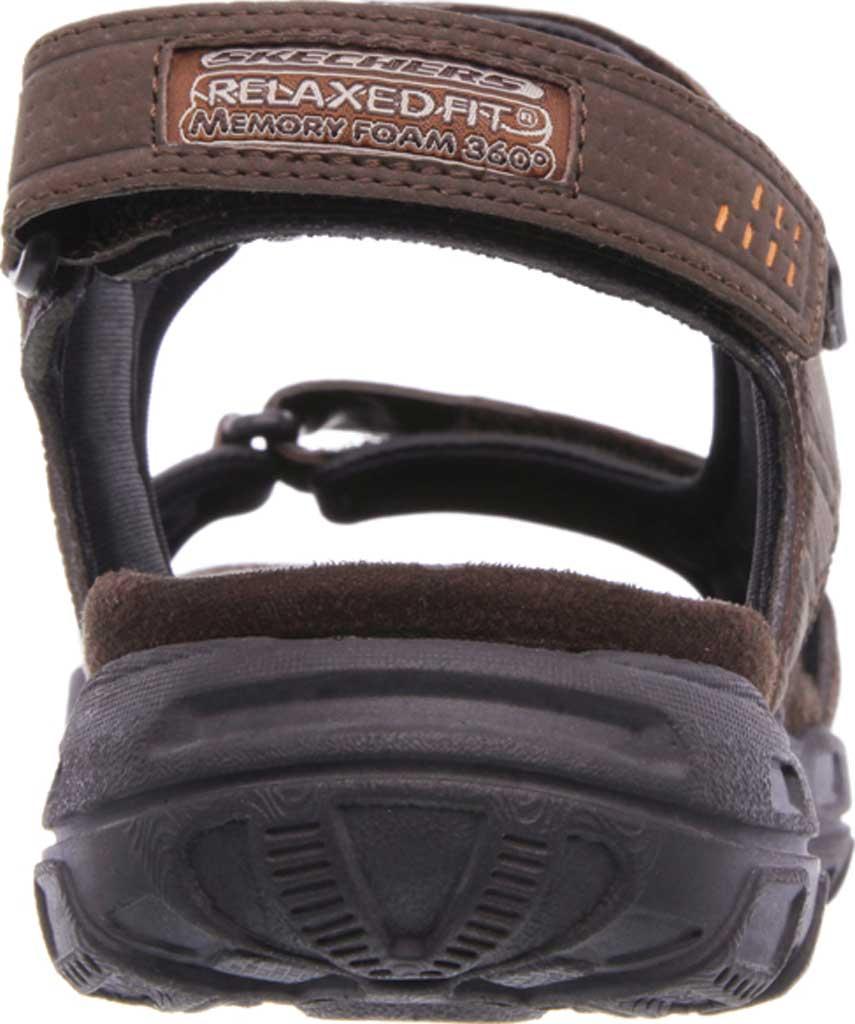Men's Skechers Relaxed Fit Conner Louden Sport Sandal, Brown, large, image 4