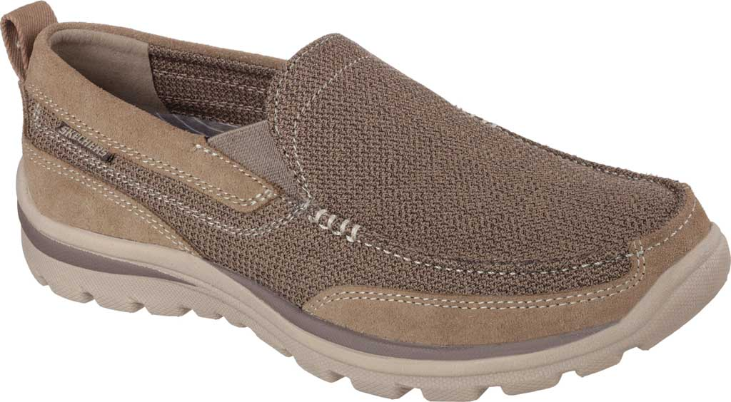 Men's Skechers Relaxed Fit Superior Milford, Light Brown, large, image 1