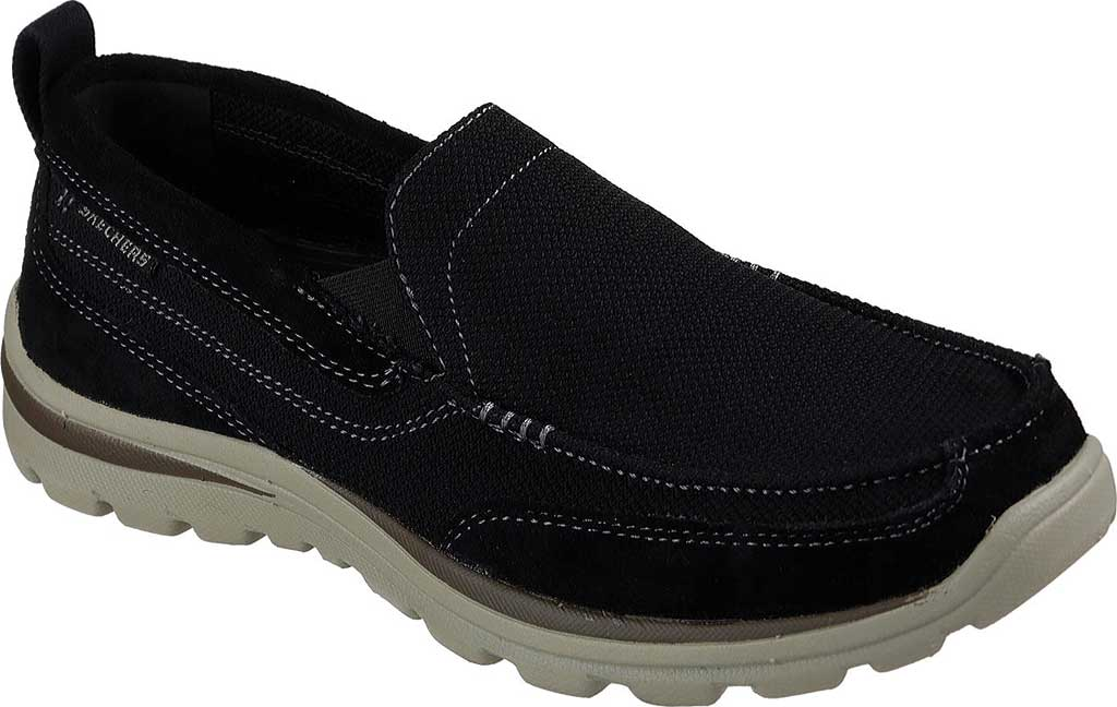 Men's Skechers Relaxed Fit Superior Milford, Black, large, image 1