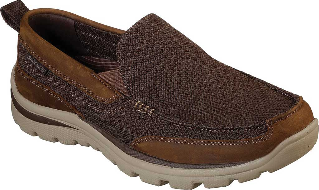 Men's Skechers Relaxed Fit Superior Milford, Brown, large, image 1