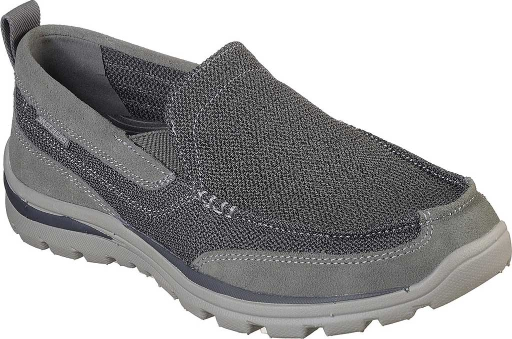 Men's Skechers Relaxed Fit Superior Milford, Charcoal/Gray, large, image 1