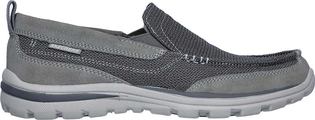 Men's Skechers Relaxed Fit Superior Milford, Charcoal/Gray, large, image 2