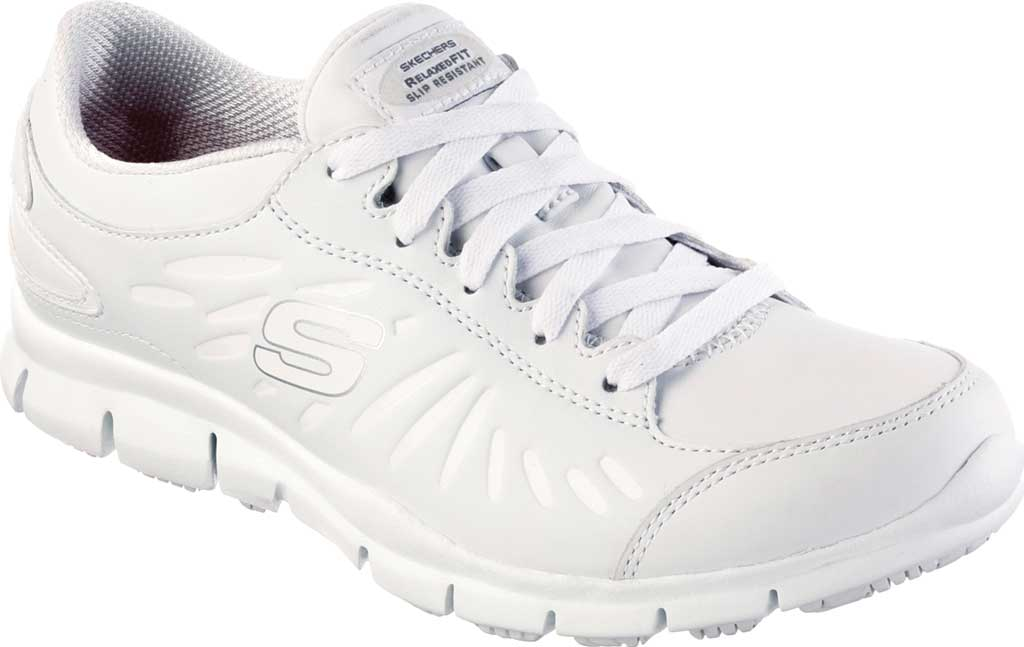 Women's Skechers Work Relaxed Fit Eldred Dewey SR, White, large, image 1