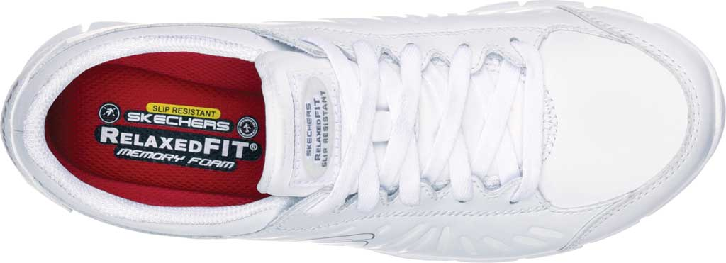 Women's Skechers Work Relaxed Fit Eldred Dewey SR, White, large, image 5