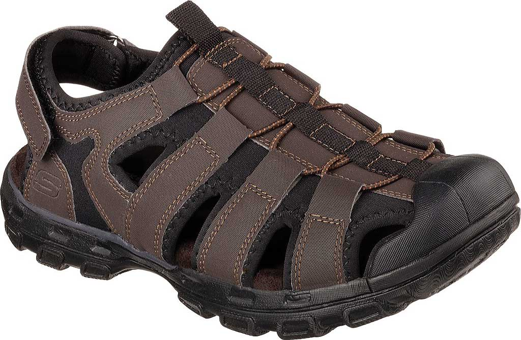 Men's Skechers Conner Sandal, Chocolate, large, image 1
