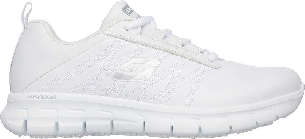 Women's Skechers Work Relaxed Fit Sure Track Erath SR Shoe, White, large, image 2