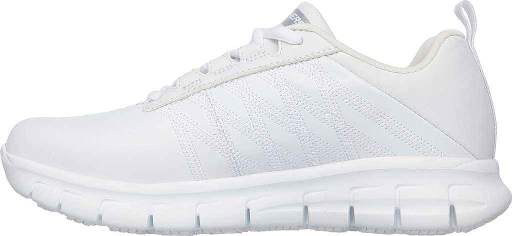Women's Skechers Work Relaxed Fit Sure Track Erath SR Shoe, White, large, image 3