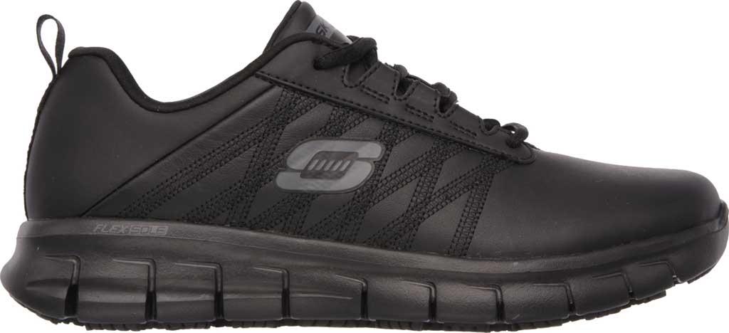 Women's Skechers Work Relaxed Fit Sure Track Erath SR Shoe, Black, large, image 2