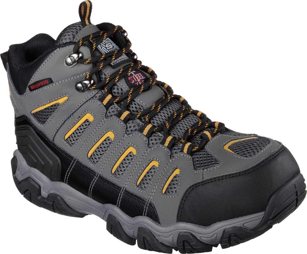 Men's Skechers Work Blais Bixford Steel Toe Boot, Dark Gray, large, image 1
