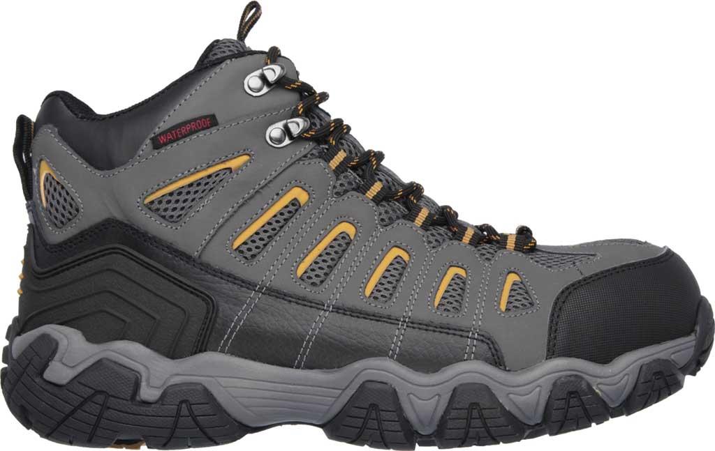 Men's Skechers Work Blais Bixford Steel Toe Boot, Dark Gray, large, image 2