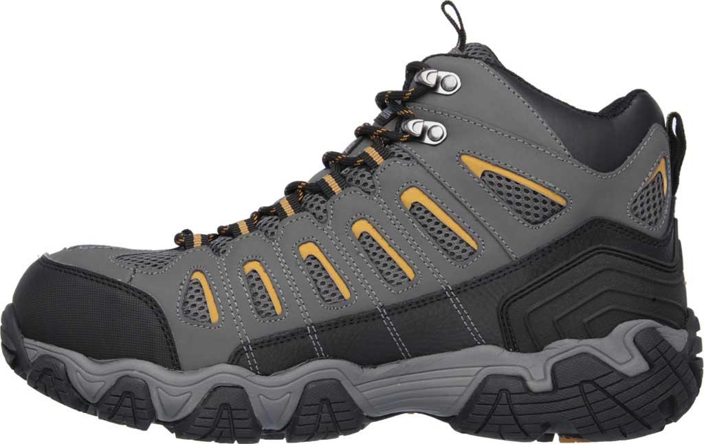 Men's Skechers Work Blais Bixford Steel Toe Boot, Dark Gray, large, image 3