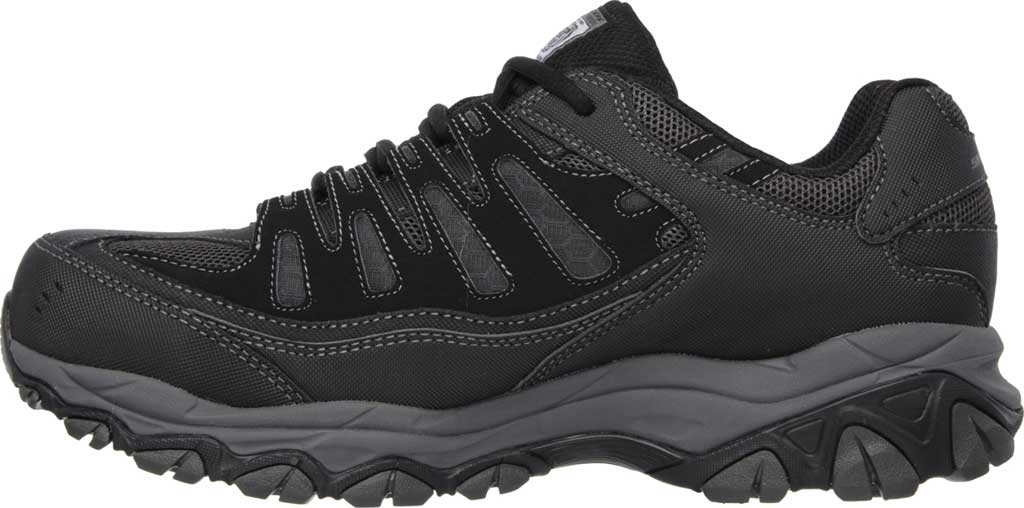 Men's Skechers Work Relaxed Fit Crankton Steel Toe Shoe, Black/Charcoal, large, image 3