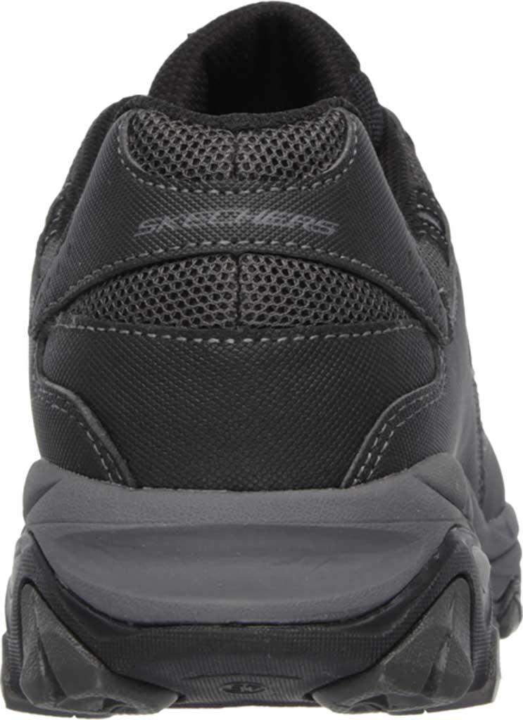 Men's Skechers Work Relaxed Fit Crankton Steel Toe Shoe, Black/Charcoal, large, image 4