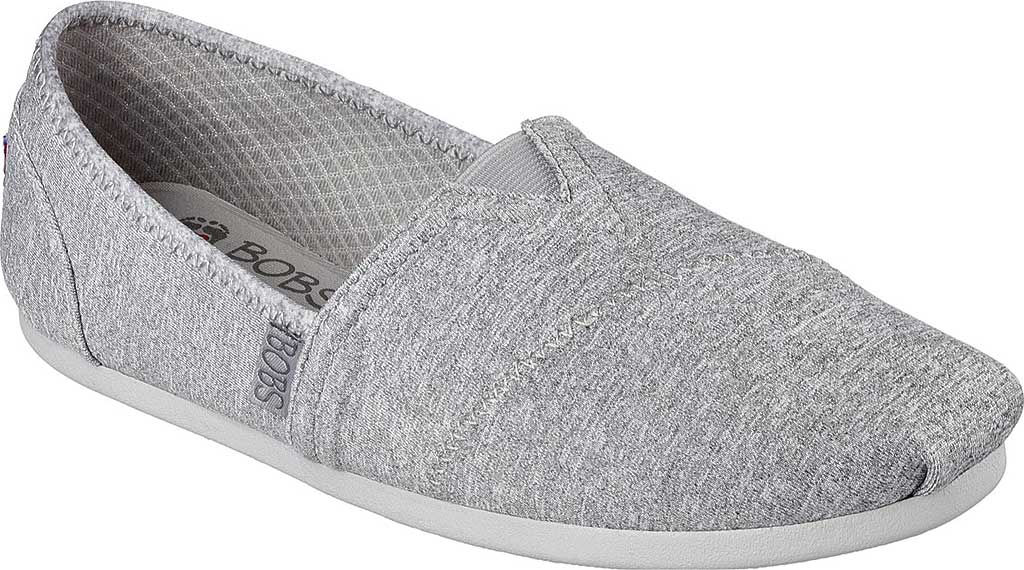 Women's Skechers BOBS Plush Express Yourself Alpargata, Gray, large, image 1