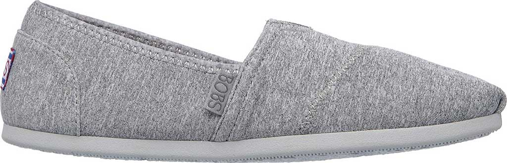 Women's Skechers BOBS Plush Express Yourself Alpargata, Gray, large, image 2