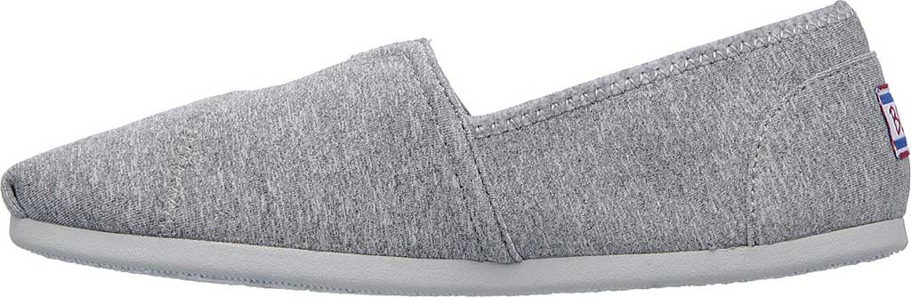 Women's Skechers BOBS Plush Express Yourself Alpargata, Gray, large, image 3