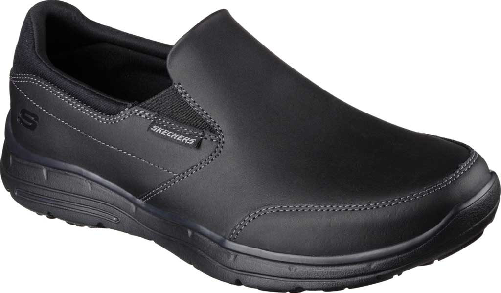Men's Skechers Relaxed Fit Glides Calculous Slip On, Black, large, image 1