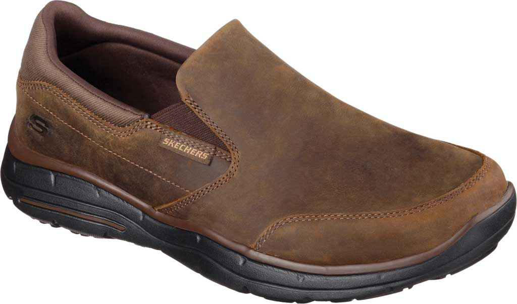Men's Skechers Relaxed Fit Glides Calculous Slip On, Dark Brown, large, image 1