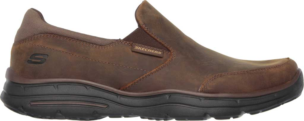 Men's Skechers Relaxed Fit Glides Calculous Slip On, Dark Brown, large, image 2