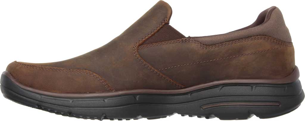 Men's Skechers Relaxed Fit Glides Calculous Slip On, Dark Brown, large, image 3