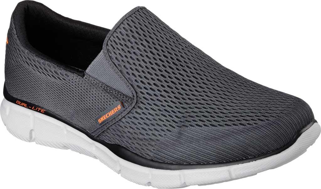 Men's Skechers Equalizer Double Play Slip On, Charcoal/Orange, large, image 1
