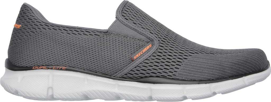 Men's Skechers Equalizer Double Play Slip On, Charcoal/Orange, large, image 2