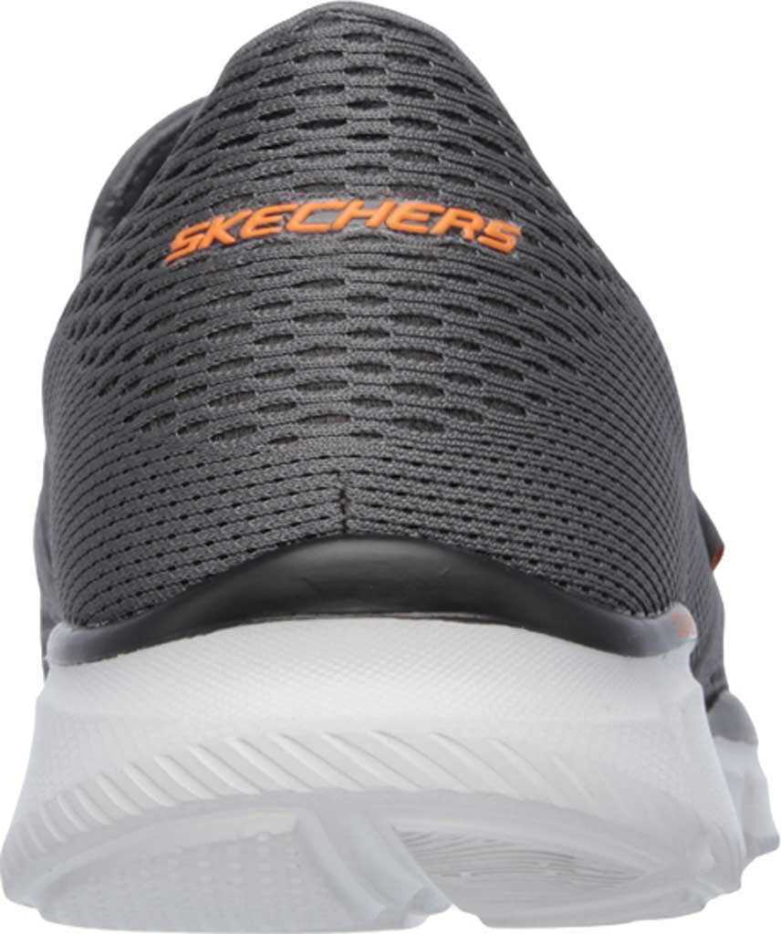 Men's Skechers Equalizer Double Play Slip On, Charcoal/Orange, large, image 4