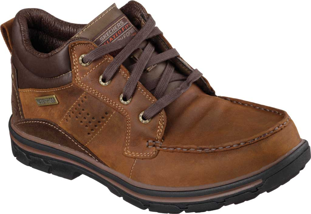 Men's Skechers Relaxed Fit Segment Melego, Dark Brown, large, image 1